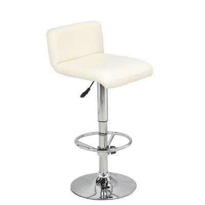 "Hazelwood Home Hazelwood Home 23"" Two Adjustable Faux Leather Bar Stools"