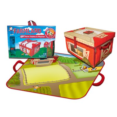 ZipBin Farmland™ Toy Box Playset