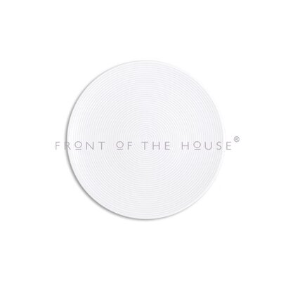 "Front Of The House Spiral  11"" Round Plate"