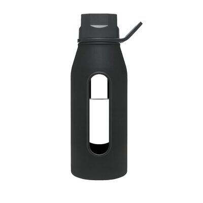 Takeya 16 Oz Classic Glass Water Bottle in Black