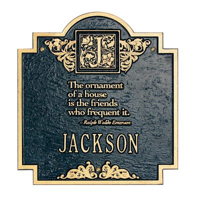 Whitehall Products Emerson Monogram Standard Plaque