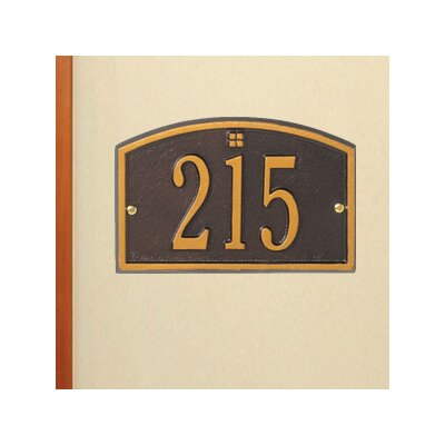 Whitehall Products Cape Charles Petite Address Plaque