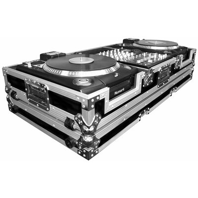 "Road Ready Cases DJ CD Player Coffin 12"" Mixer Coffin with Low Profile Wheels For 2 Numark CDX or HDX Turntables"