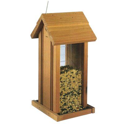 North States Wood Hanging Tower Birdfeeder