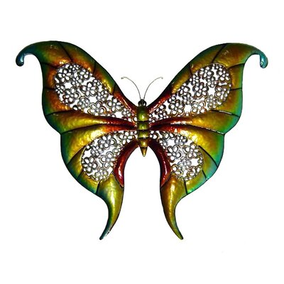 "Cheungs 32"" Wide Butterfly Wall Art in Multicolor"
