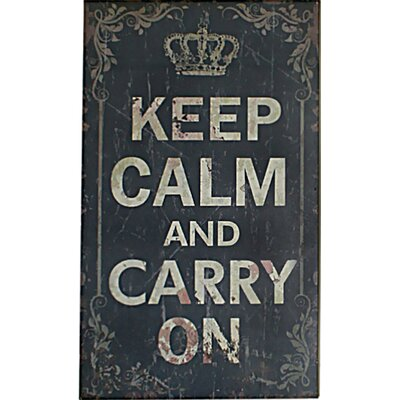 Cheungs Keep Calm and Carry On Wall Décor
