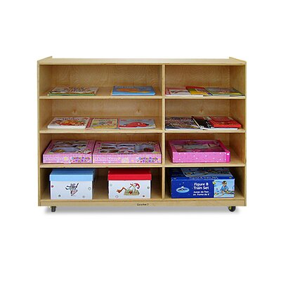 A+ Child Supply 4-Shelf / 4-Cubby Unit with Casters
