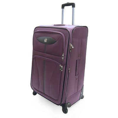 Oleg Cassini Lightweight Expandable Spinner Suitcase