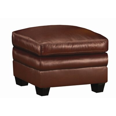 World Class Furniture Markdale Leather Ottoman