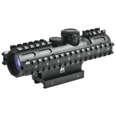 2-7x32 Compact Scope 3 Rail Sighting System / Blue Illuminated P4 / Weaver Mount / ...