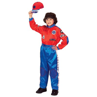 Aeromax Jr. Champion Racing Suit with Cap Costume in Red / Blue