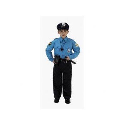 Aeromax Jr Police Officer Suit Child Costume