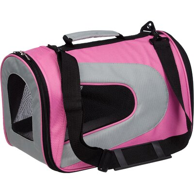 Pet Life Zippered Sporty Mesh Pet Carrier in Pink