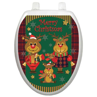 Toilet Tattoos Holiday Reindeer Family Toilet Seat Decal