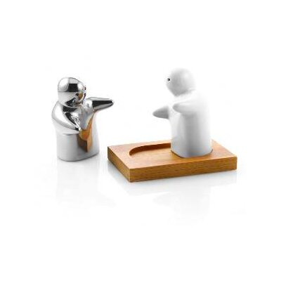 DanyaB Salt and Pepper Shakers with Bamboo Tray