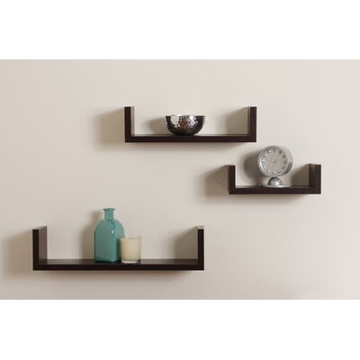 Danya B Floating U Shelf (Set of 3)