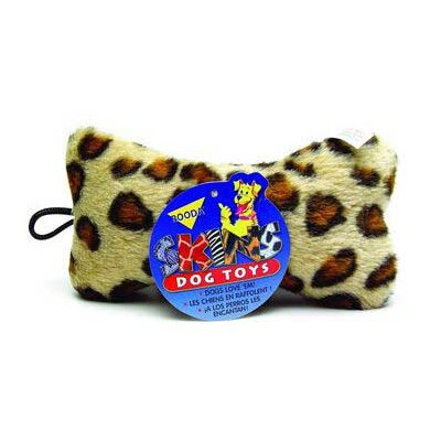 Leopard Print Skins Bone Dog Toy