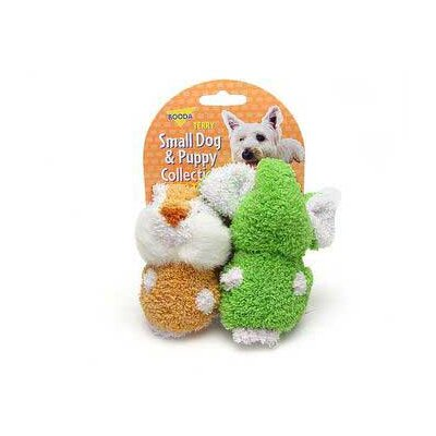 Terry Elephant/Chipmuck Dog Toy (2 Pack)