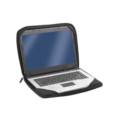SOLO CASES Tech Check Fast™  Always On Laptop Sleeve in Black