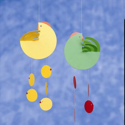 Flensted Mobiles Easter Hen Mother Mobile in Yellow