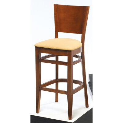 Melissa Solid Back Wood Barstool (24