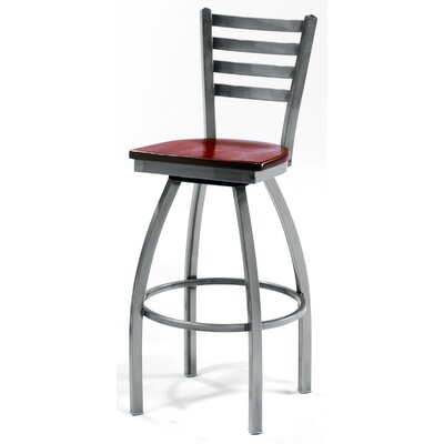 "Grand Rapids Chair Melissa Ladder Back Swivel Barstool (24"" - 36"" Seats)"