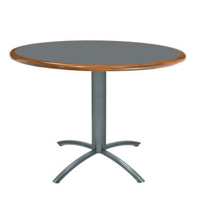 "Grand Rapids Chair Ellipse 36"" Custom Round Wood Edge Laminate Top Table"