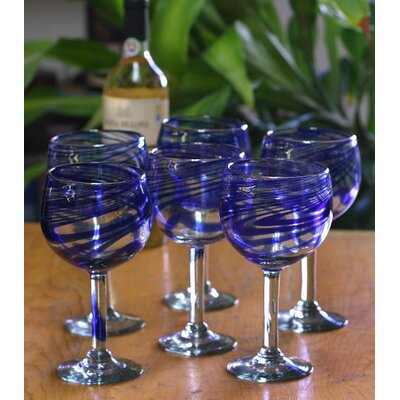 Novica Blue Ribbon Wine Glasses (Set of 6)