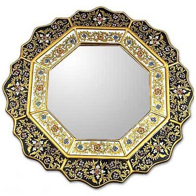 Novica Black Star Mirror