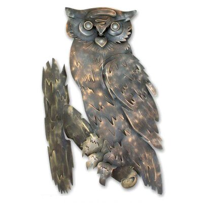Novica 'Curious Owl' Wall Adornment