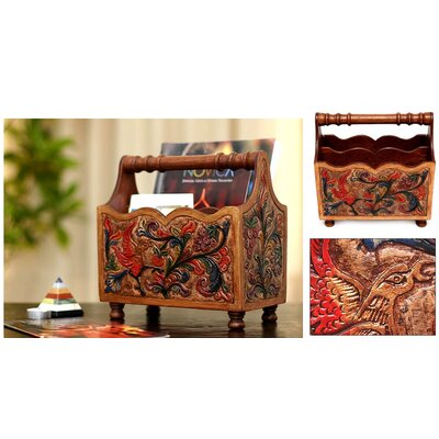 Novica Songbirds' Magazine Rack