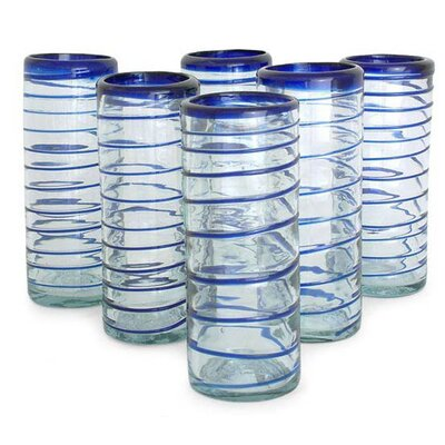 Cobalt Spiral Highball Glass (Set of 6)