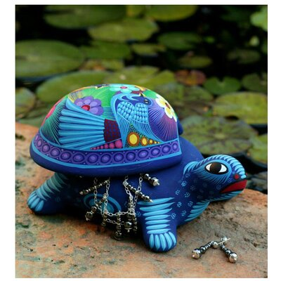 Novica Honored Turtle Jewelry Box