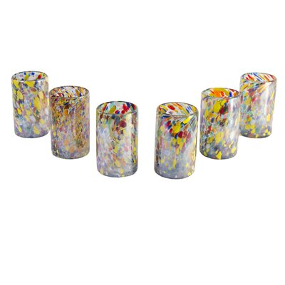 Javier and Efren Artisan Teerasak Chaiwong Artisan Blown Carnival Glass Tumbler (Set of 6)