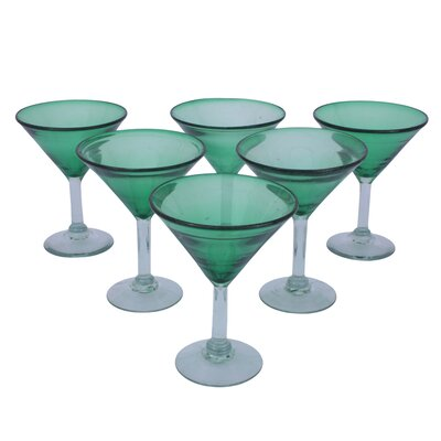 Novica Javier and Efren Vegetation Martini Glass (Set of 6)