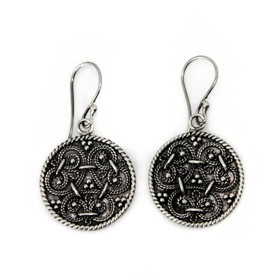 The Wayan Asmana Artisan Sterling Silver Denpasar Treasure Dangle Earrings