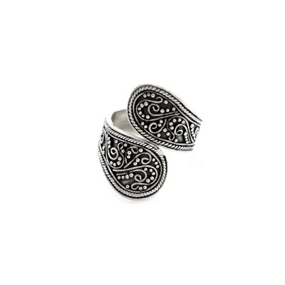 The Sukartini Artisan Sterling Silver Together Wrap Ring