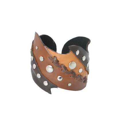 The Parichat Chompoorat Artisan Leather Honey Cuff Bracelet