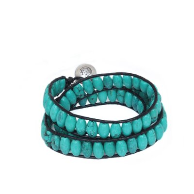 The Panapha Artisan Lotus Sky Wrap Bracelet