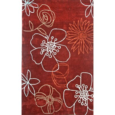 nuLOOM Pop Daisy Red Rug