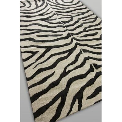 nuLOOM Earth Soft Zebra Black Rug