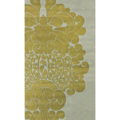 nuLOOM Hudson Damion Grey/Yellow Rug