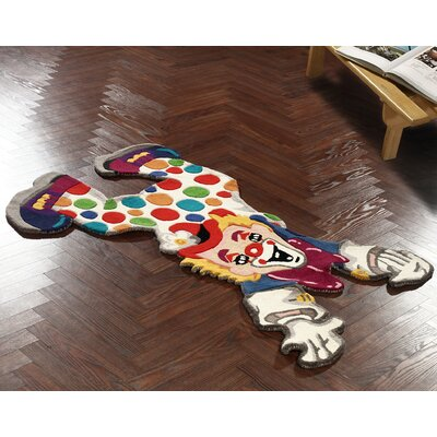 nuLOOM Kinder Clown Fun Multi Kids Rug