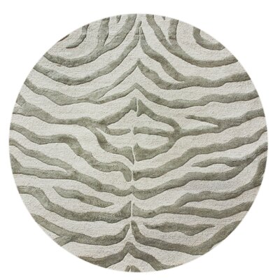 nuLOOM Earth Safari Zebra Grey Rug