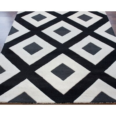 nuLOOM Bella Diamonds Black Rug