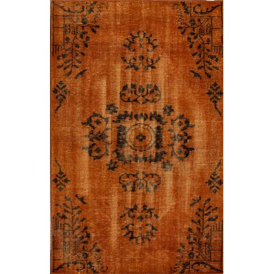 nuLOOM Harper Overdyed Orange Rug