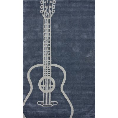nuLOOM Cine Guitar Grey Novelty Rug