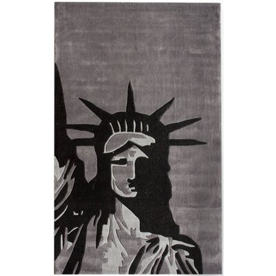 nuLOOM Cine Statue Of Liberty Grey Novelty Rug