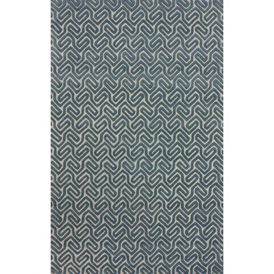 nuLOOM Onyx Geometric Cuts Blue Rug