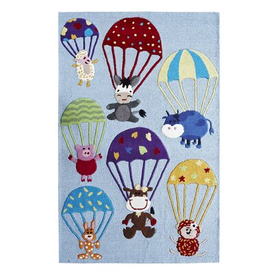 nuLOOM KinderLOOM Air Safari Blue Kids Rug